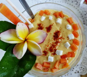 Rezept: Papaya-Mango-Kokos Lassi ala Kuta-Bali