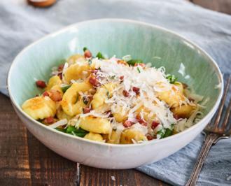 Rezept: Gnocchi mit Speck, Bohnen und frittierten Kartoffeln á la Stefan Wiertz