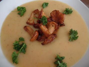 Kartoffelsuppe mit Pfifferlingen - Rezept - Bild Nr. 8256