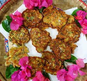Exotisch-würzige Gemüsepuffer mit Kokosnuss – Martabak ala Ampenan - Rezept - Bild Nr. 8256