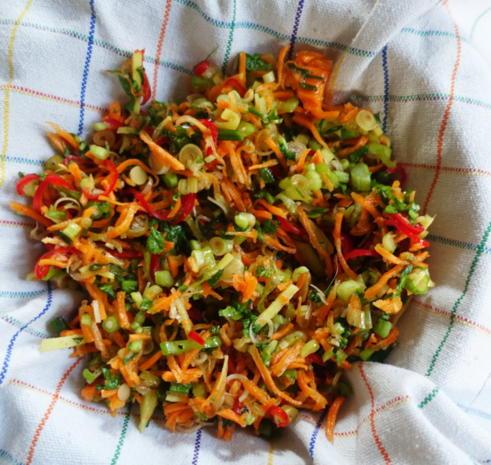 Exotisch-würzige Gemüsepuffer mit Kokosnuss – Martabak ala Ampenan - Rezept - Bild Nr. 8269