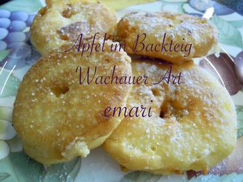 Äpfel im Backteig auf Wachauer Art - Rezept - Bild Nr. 8264