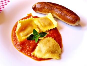Rezept: Ravioli in Tomaten