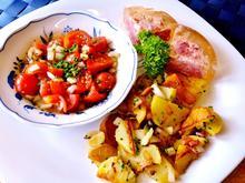 Marinierte Tomaten mit Bratkartoffeln und Eisbein in Aspik - Rezept - Bild Nr. 8260