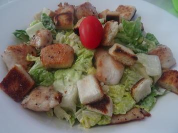 Ceasar Salad mit Huhn - Rezept - Bild Nr. 8260