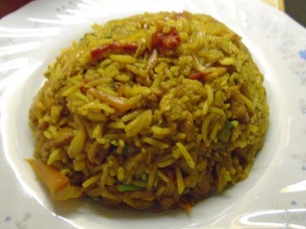 Gebratener gelber Reis im Wok II - Rezept - Bild Nr. 2