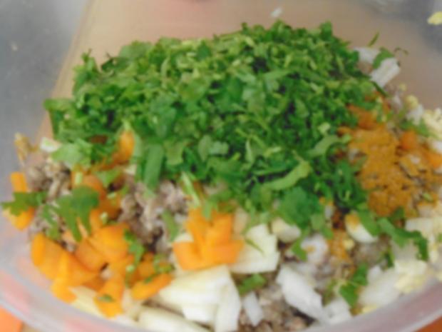 Buletten mit Sahnesauce, Drillingen und Blumenkohl-Brokkoli-Gemüse - Rezept - Bild Nr. 8262
