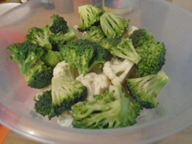 Buletten mit Sahnesauce, Drillingen und Blumenkohl-Brokkoli-Gemüse - Rezept - Bild Nr. 8266
