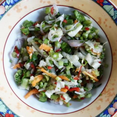 Exotisch-würzige Gemüsepuffer mit Erdnüssen – Martabak ala Ampenan - Rezept - Bild Nr. 8268