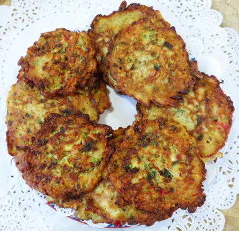 Exotisch-würzige Gemüsepuffer mit Erdnüssen – Martabak ala Ampenan - Rezept - Bild Nr. 8279