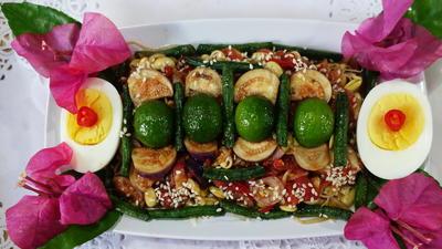 Sojakeimlinge mit Eier und Auberginensambal - Rezept - Bild Nr. 8260
