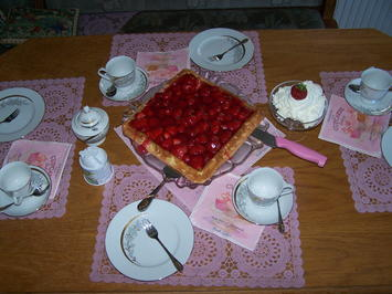 Erbeeren Torte , - Rezept - Bild Nr. 8260