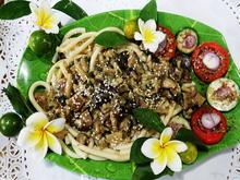 Makkaroni mit Pilzen in Avocadosauce - Rezept - Bild Nr. 8260