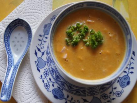 Asiatische-Orangen-Möhren-Suppe mit Einlage - Rezept - Bild Nr. 8269