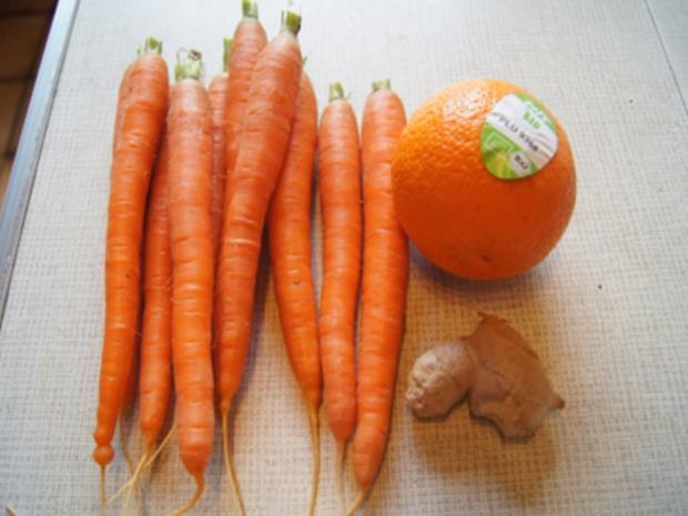 Asiatische-Orangen-Möhren-Suppe mit Einlage - Rezept - Bild Nr. 8270