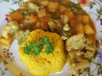 Gemüsemix-Curry und gelber Basmatireis - Rezept - Bild Nr. 2