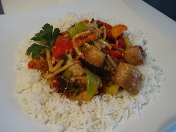 Rezept: Fisch asiatisch aus dem Wok