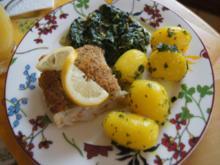 Schlemmer-Filet mit Rahm-Blattspinat und Petersilien-Kartoffeln - Rezept - Bild Nr. 8296