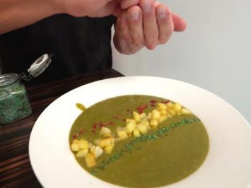 Spinat-Minze-Süppchen mit Kartoffelpommes - Rezept - Bild Nr. 2