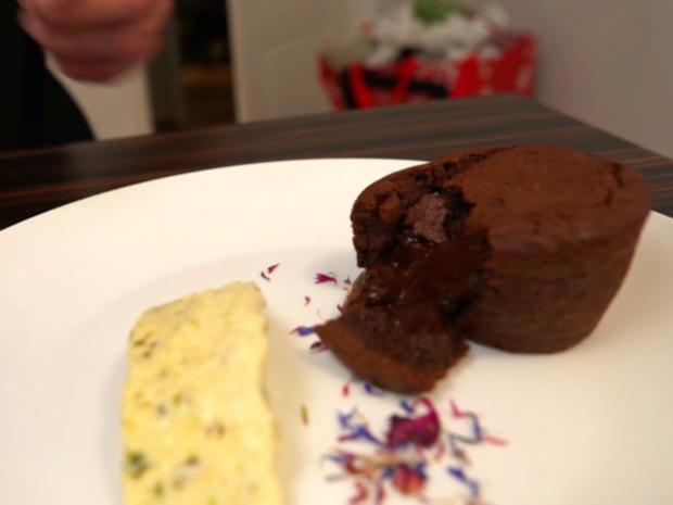 Lava-Cake mit Pistazienparfait - Rezept - Bild Nr. 2