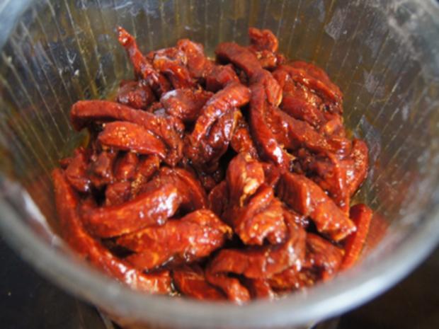 Mie-Nudeln mit Rindfleisch und Gemüse im Wok - Rezept - Bild Nr. 8300