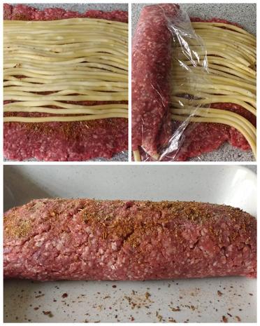 Gefüllte Hackfleischrolle mit Tomatensauce & Salat - Rezept - Bild Nr. 8296