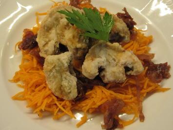 Salate: Karottensalat mit karamellisierten Zwiebeln und Champignons - Rezept - Bild Nr. 8296