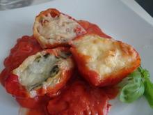 Conchiglioni mit dreierlei Füllung und Tomaten-Bechamel-Soße - Rezept - Bild Nr. 8303