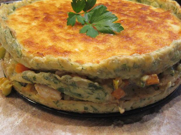 Pfannkuchen: Pfannkuchen-Gemüse-Lasagne - Rezept - Bild Nr. 8345