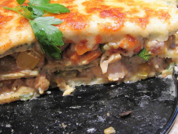 Pfannkuchen: Pfannkuchen-Gemüse-Lasagne - Rezept - Bild Nr. 8347