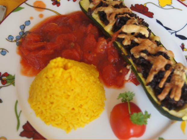 Gefüllte Zucchini mit gelben Basmatireis - Rezept - Bild Nr. 3