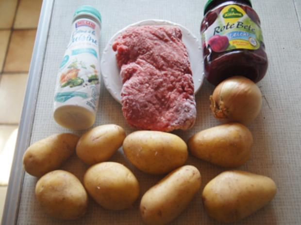 Flickerklops mit Kartoffelpilzen und Rote Bete - Rezept - Bild Nr. 3