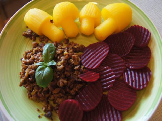 Flickerklops mit Kartoffelpilzen und Rote Bete - Rezept - Bild Nr. 17