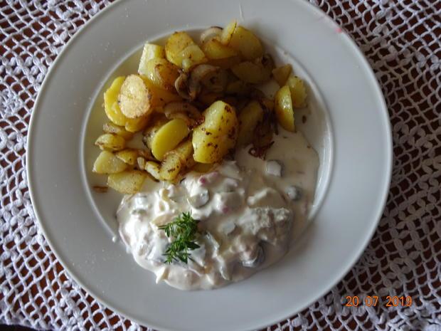 Mein Matjessalat mit Bratkartoffeln - Rezept - Bild Nr. 3