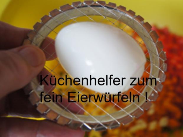 Nudelsalat mit Gabelspaghetti, Gemüse und Eiern - Rezept - Bild Nr. 8378