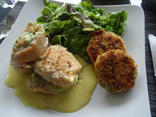 Saiblings-Filet-Röllchen und Reistaler vom Grill mit Honig-Senf-Soße - Rezept - Bild Nr. 8372