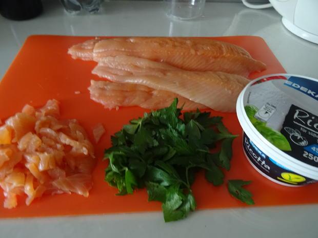 Saiblings-Filet-Röllchen und Reistaler vom Grill mit Honig-Senf-Soße - Rezept - Bild Nr. 8381