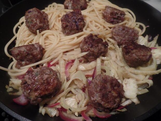 Fenchel-Spaghetti mit Hackbälchen - Rezept - Bild Nr. 8387