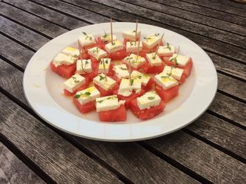 Eiskalte Wassermelone mit Feta - ein Sommertraum - Rezept - Bild Nr. 8378