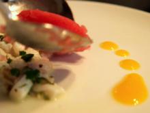 Ceviche mit Shiso-Sorbet an Mango Mozzarella Salat - Rezept - Bild Nr. 2