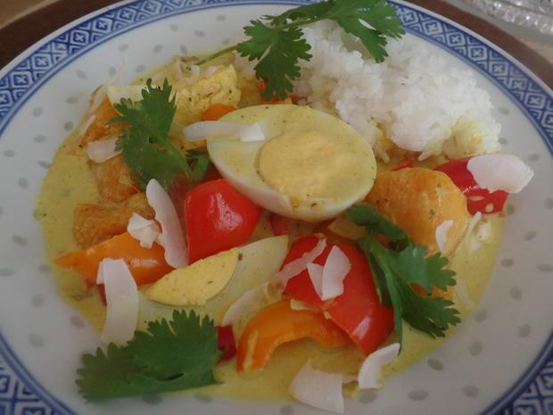Mango-Curry mit Paprika und Eiern - Rezept - Bild Nr. 8380