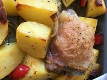 Kartoffel-Paprika-Hähnchen-Blech - Rezept - Bild Nr. 8391