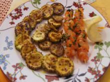 Gebratene Zucchini mit Garnelenspießen - Rezept - Bild Nr. 2