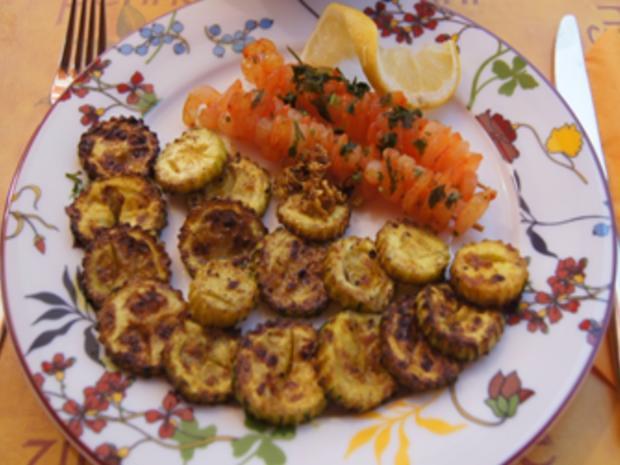 Gebratene Zucchini mit Garnelenspießen - Rezept - Bild Nr. 11