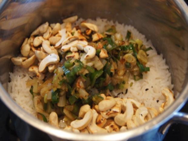 Rindfleisch-Paprika-Wok mit Cashew-Reis - Rezept - Bild Nr. 8437