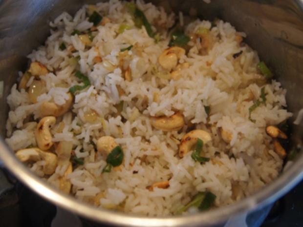 Rindfleisch-Paprika-Wok mit Cashew-Reis - Rezept - Bild Nr. 8438