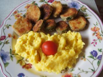 Gebratene Zucchini mit Kartoffelstampf - Rezept - Bild Nr. 2