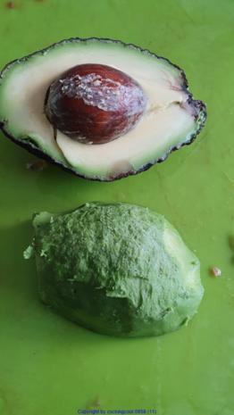 Biggi`s Salate = Wasabi-Rucula Salat mit Avocado Melone und Passionsfrucht - Rezept - Bild Nr. 8473
