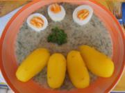 Gekochte Eier mit Dillsauce, Kartoffeln und Romana-Salat - Rezept - Bild Nr. 8471