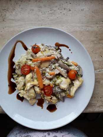 Hühnerbrust-Reis-Pfanne - Rezept - Bild Nr. 8526
